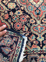 "2'2"" x4'10"" Jozan Sarouk / Small Vintage Rug / Antique Small Rug"