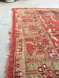 "5'3"" x 6'6"" Antique Turkish Oushak Rug / Oushak rug / Square Turkish Rug"