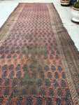 "3'3"" x 10'10"" Antique Bakhtiari Runner /  Rug Runner"