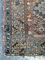 "3'4"" x 5'7""  Kurdish Antique Rug"