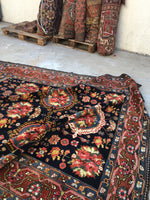 "7' x 14'9"" Antique Bakhtiari Rug / Large Rug / Long and Narrow Rug"