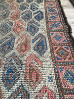 "2' x 3'10"" Antique Baluch Rug / Small  Rug / 2x4 Vintage Rug"