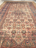 "10'10"" x 16'10"" Antique Bibikabad Rug / Wool and Camel hair Rug"