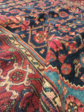 "3'4"" x 4'9"" Antique Malayer / Small Vintage Rug /Rug"