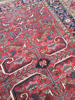 6'9 x 9'2 Antique Heriz / Large Antique Heriz / 7x9 Rug