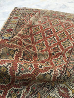 3'5 x 5'1 Antique Caucasian Rug / small antique rug