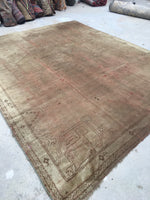 8' x 9'7 Antique Turkish Oushak Rug / 8x10 antique Turkish Rug / 8x10 Neutral rug