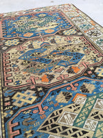 3'4 x 5'3 Collectible Kuba rug - 1880s