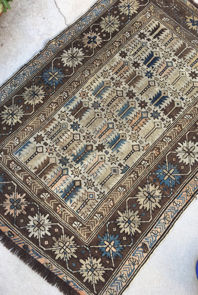 3'4 x 4'6 Antique Caucasian Kuba Rug