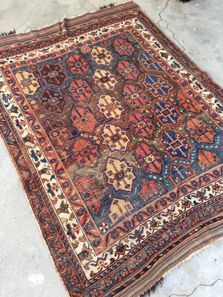 4'2 x 5'8 Antique Persian Afshar Rug (#1320)