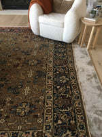 9'4 x 12'3 Antique Persian Tabriz Rug / Large Antique Rug (#739)