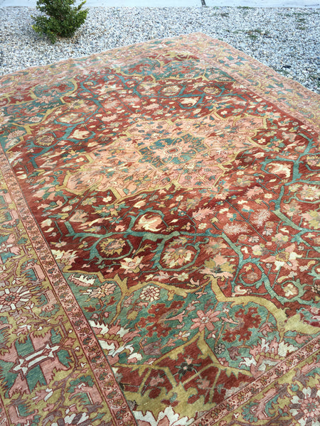 9'2 x 11'5 finely woven antique Persian Malayer (#1090ML)