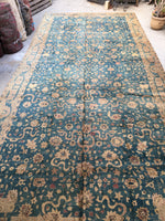 9 x 20 Antique Agra Rug (#1311)
