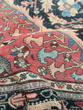 6'10 x 10' Time worn Antique Persian Ferahan Sarouk / Antique Oriental Rug
