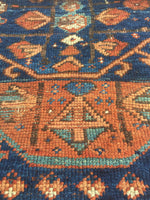 4'1 x 6'4 Antique Shiraz Tribal Rug