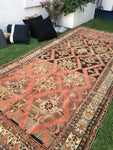 5'6 x 12' Antique Karabagh Runner / Antique Russian Rug