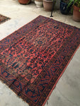 4'2 x 6'1 Antique Persian Malayer / 4x6 vintage persian rug (#1287)