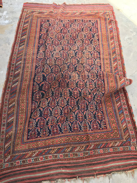 5'4 x 9 Antique Persian Afshar Rug (#1488)