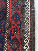 2'8 x 4'8 Antique Baluch Rug (#1319)