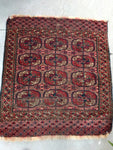 2'8 x 3' Antique Tribal Turkmen / Turkoman Rug / Small Antique Rug