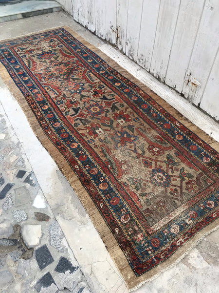 3'7 x 9'3 Antique Persian Camel Hair runner
