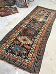 3'6 x 8'3 Antique Caucasian Kazak Runner (#1396)