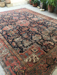 9' x 11'7 Antique Persian Heriz Rug (#1400)