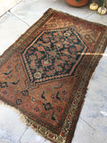 3'5 x 5'6 Antique Persian / Small Vintage Rug (#1407)