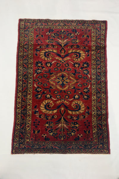 3'4 x 5' Antique Hamadan Rug / Small Antique Rug (#1333)