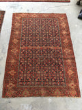 4'3 x 6'1 Antique Persian Senneh (#1383)