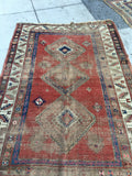 4'2 x 6'7 Antique Caucasian Rug