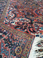 "8'4"" x 11'2"" Antique Heriz Rug"