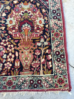 2' x 2'7 Antique Persian Kerman prayer rug (#938ML)