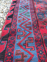 7'2 x 11'5 Antique Soumak flat weave rug