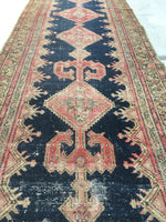3' x 13'3 antique Kurdish runner