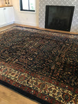 10'8 x 12'4 Antique Malayer Rug / Large Persian Rug