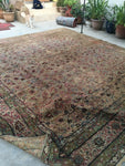 10'7 x 11'7 square Persian Kerman rug / 11x12 large vintage rug (#1312)