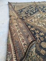 4'5 x 6' Rug / 4x6 Antique Rug / Vintage Tribal Rug