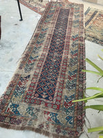3 x 9'5 Antique worn Caucasian Runner