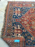 5'3 x 8'2 Antique Persian Shiraz Tribal Rug / 5x8 vintage rug (#1276)