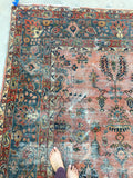 10'6 x 13'6 worn antique Persian Mahal Rug (#788)