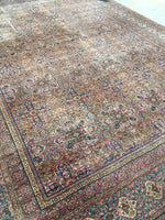 9'10 x 13'5 Antique Persian Tabriz Rug /  Large Antique Rug (#924)