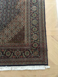 6'7 x 9'7 antique Persian Tabriz / 7x10 large vintage rug / Tabriz Rug