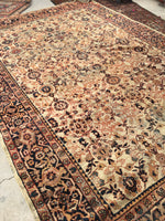 8'10 x 12' antique ivory Persian Mahal (#1143ML)
