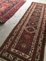 3'2 x 10'1 antique Caucasian Runner / 3x10 runner (#1281)