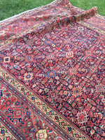 "6'4"" x 13'5"" Antique Mahal Rug"