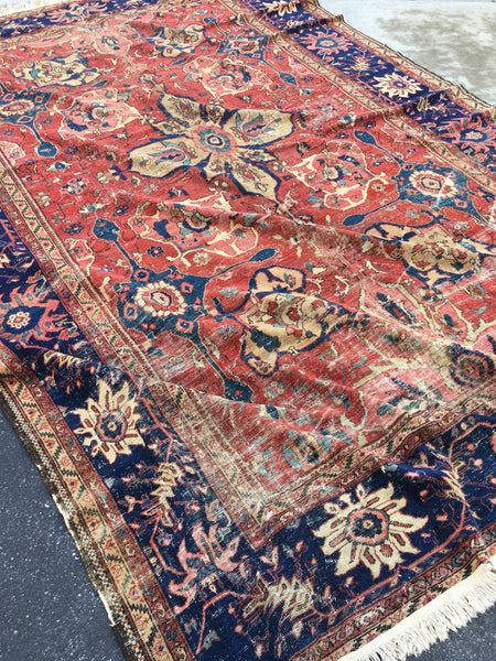 8'11 x 11'9 Antique Persian Mahal Rug