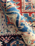 9'3 x 12' Antique Persian Heriz with french blue corners (#1393)