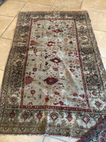 3'10 x 6'3 Antique Turkish Rug / Small Turkish Rug
