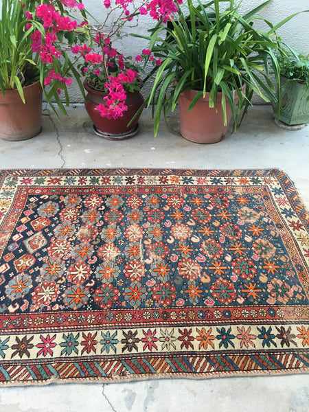 3'10 x 5'4 Antique Caucasian Rug (#1323)